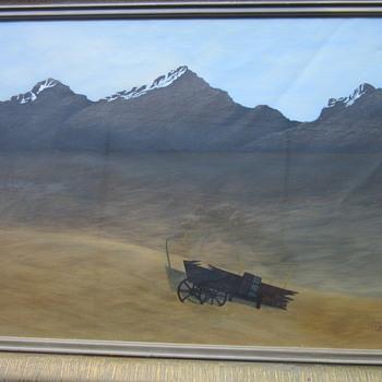 T.J. Scott 50 Western scene painting - Fine Art