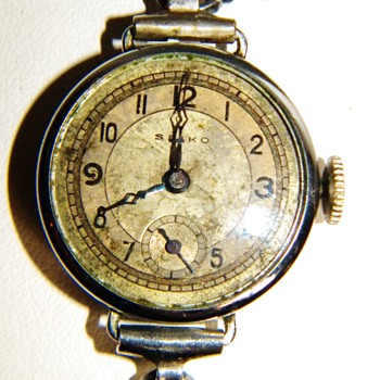Vintage Deco Seiko Ladies Silver Wrist Watch  - Wristwatches