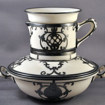 Lenox Breakfast set for oatmea, milk and a topping? Don't know what it is. - China and Dinnerware
