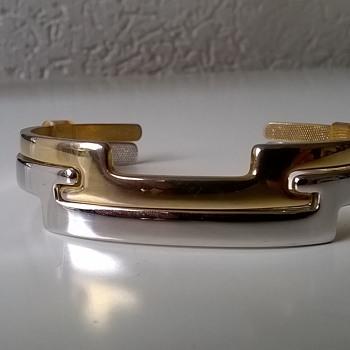 1977 Avon Ireland Counterparts Interlocking Cuff Bracelets, Flea Market Find, 50 cents