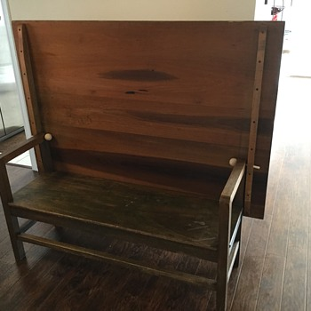 Pleasant Shaker 1800S Settle Bench Table Collectors Weekly Beatyapartments Chair Design Images Beatyapartmentscom