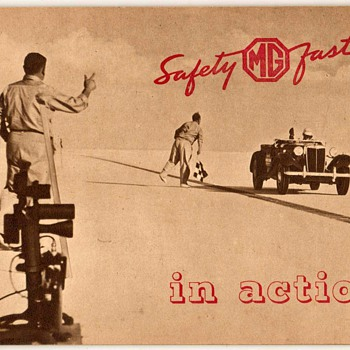 """1953 - """"MG in Action"""" Booklet"""