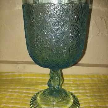 Art glass goblet . - Glassware