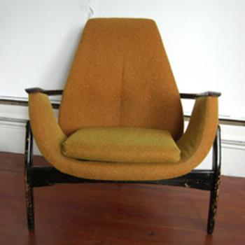 Canadian Mid Century Modern 3 Legged Chair