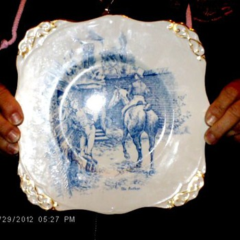 old Post boys plate - China and Dinnerware