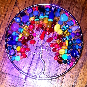 UV reactive Tree of Life (handmade personally) - Glassware