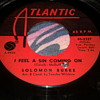 "SOLOMON BURKE ATLANTIC RECORDS 45 RPM ""I FEEL A SIN COMING ON"" / ""MOUNTAIN OF PRIDE"" [45-2327]"