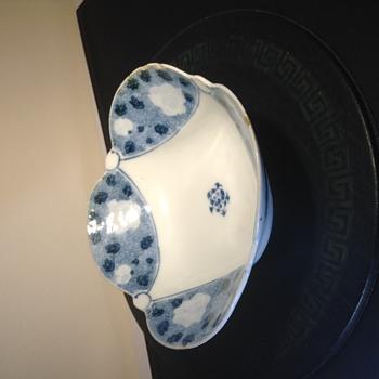 Antique Japanese scalloped rim bowl  - Asian