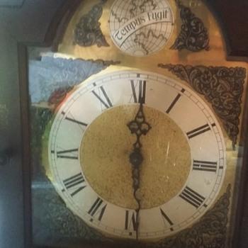Rigdeway tempus fugit grandfather/grandmother clock unknown age?