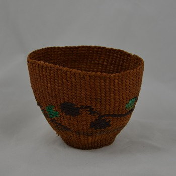 Very Small Native Basket with Color - Native American
