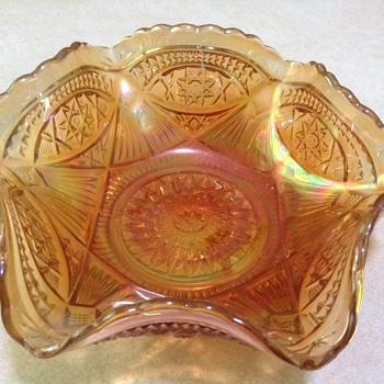 Unknown Pattern  Carnival Glass