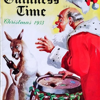 Guinness Time Magazine. 1953 Christmas Issue Cover - Advertising