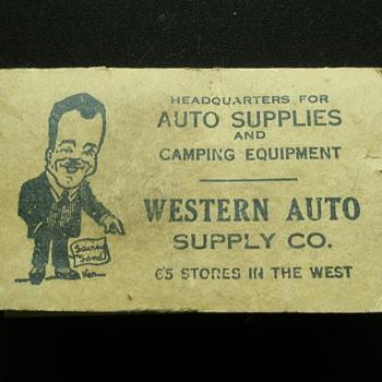 The Western Auto Supply Company Saving's Sam Map