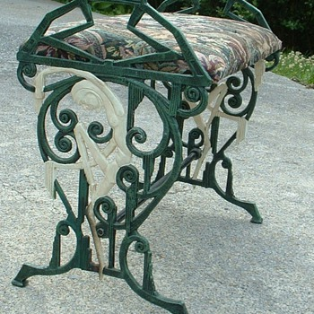 Iron Nouveau-Style Seat - Furniture