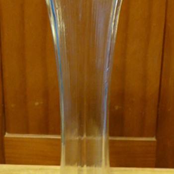 "Jefferson Glass Company ""Lined Heart"" design vase - Glassware"