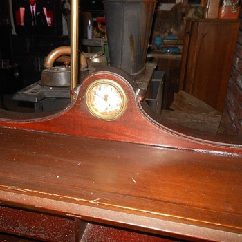 New Haven Clock Built into a Secretary Desk Early 1900s - Clocks
