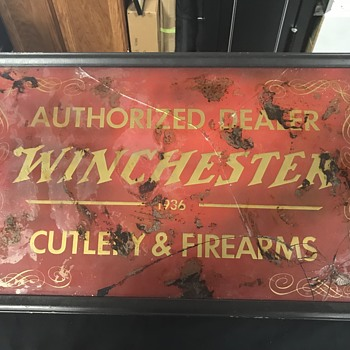 Two old Winchester advertising signs  - Advertising
