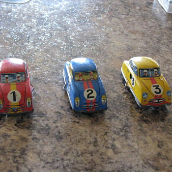 West Germany wind up racing car set - Toys