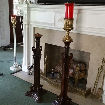 Vintage funeral home candle lamps - Lamps