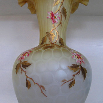 HARRACH ( Atlas glass c1885) A VASE TO BEHOLD - Art Glass
