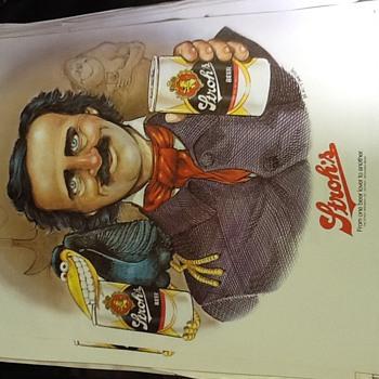 Edgar Allen Poe Stroh's Poster