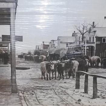 L.A.Huffman's view of main st. Miles City Montana circa 1880 - Photographs