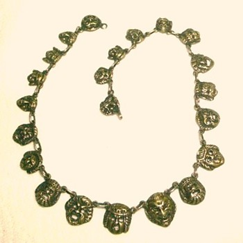 Victorian Necklace from Italy with Grotesque Faces - Victorian Era