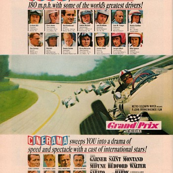 "1966 - MGM Film ""Grand Prix"" Advertisement"