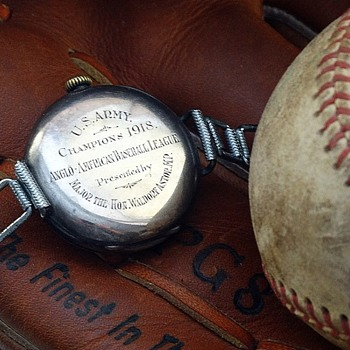 Anglo American Baseball League Champions 1918 wristwatch - Baseball