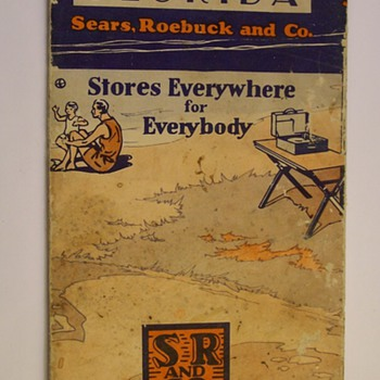 1929 Sears Robuck Florida Road Map - Petroliana