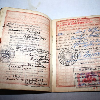 early Vichy France passport