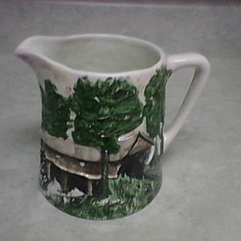 CONCORD COVERED BRIDGE PITCHER - Pottery