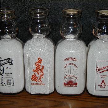 Four Square Massachesetts Baby Top Milk Bottles...... - Bottles