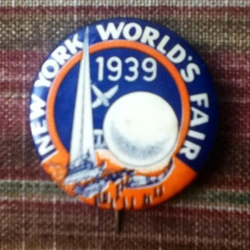 1939 World's Fair Button - Medals Pins and Badges