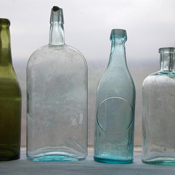 Unmarked Old Bottles Lot #1 Info Please - Bottles