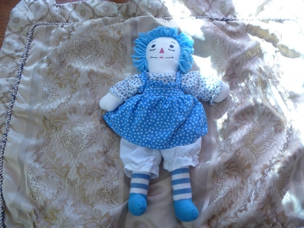 Blue Homemade Raggedy Ann Doll Collectors Weekly