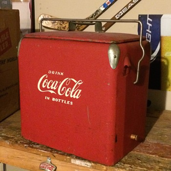 1950 Coca-Cola portable cooler - Coca-Cola