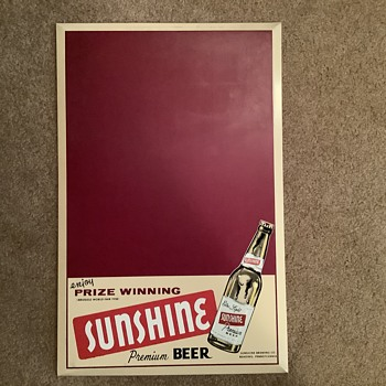 Vintage Sunshine Chalkboard - Breweriana