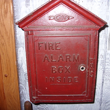 cast iron adt fire alarm box