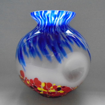 Czech Art Deco Kralik Vase - Art Glass