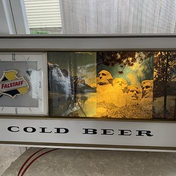 Falstaff Americana Beer Motion Clock Sign - Clocks