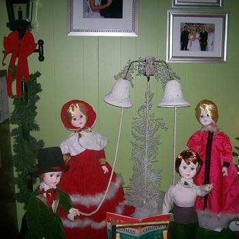Vintage Christmas Figurines for Window Display