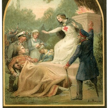 WWI German Red Cross Postcard - Military and Wartime