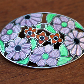 Enamel brooch marked ARD&S - Fine Jewelry