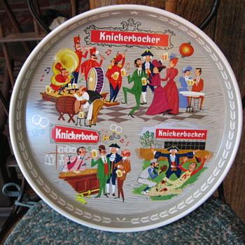 1960's Knickebocker Beer Tray  - Breweriana