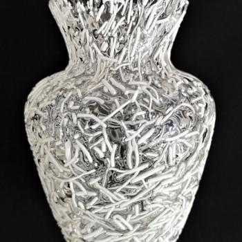 Miniature Harrach Peloton Vase - Art Glass