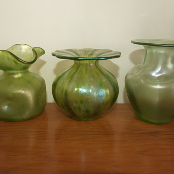 Trio of Chrisopher Dresser's Loetz Glass Designs - Art Glass