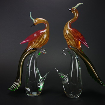 Formia Murano Birds of Paradise - Art Glass