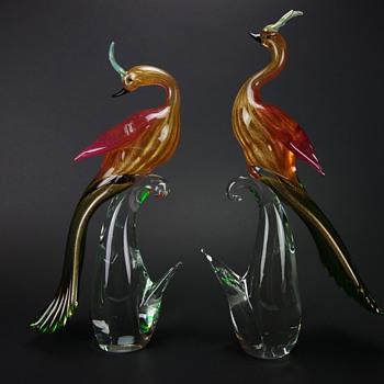 Formia Murano Birds of Paradise - Art Glass
