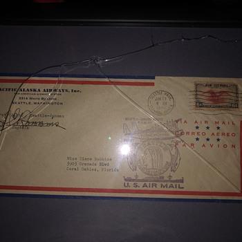 First flight envelope - Stamps